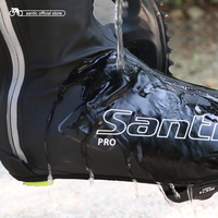 Santic Men Cycling Waterproof Shoes Covers Windproof Reflective Shoe Protector Road MTB Rainforest Cycling Overshoes W8C09083