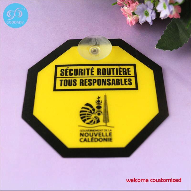 Оптовая продажа с Фабрики Пользовательские безопасности предупреждение доски, ПВХ знак автомобиля на окна, торговые центры предупреждение...