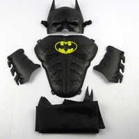 Enfant Cosplay Halloween maquillage jouet enfant bouclier masque balle accessoires jouet batman masque ensemble + bracelet + masque cape cadeau d'anniversaire