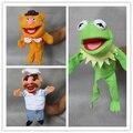 Бесплатная доставка 3 шт./лот Маппет Шоу плюшевые куклы-марионетки, Лягушонок кермит, Фоззи Медведь, Шведский шеф-повар чучело игрушки