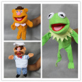 Free shipping 3pcs/lot The Muppet Show plush hand puppets,Kermit the Frog,Fozzie Bear,The Swedish Chef stuffed toys