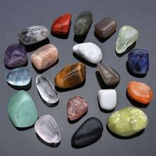 Natural Crystal Mineral Specimens 20pcs Natural Crystal Gemstone Polished Healing Chakra Stone Display hot Gemstone Beads Modern(China)