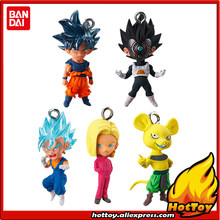 "Original BANDAI Gashapon Toy PVC Figure UDM THE BEST 27-Conjunto de pcs 5 Goku Vegeta Vegetto No. 18 a partir de ""Dragon Ball Super""(China)"