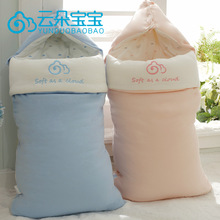 Boríték az újszülöttek baba gazdaság Blanket Baby kellékek ősszel és télen tiszta pamut hálózsák táska paplan