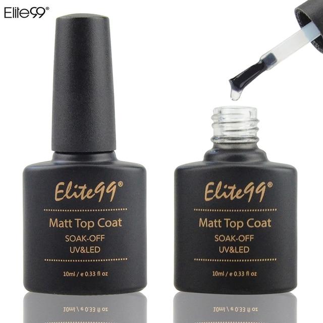 Elite99 10ml Matt Top Coat Nail Gel Polish Nail Art Transparent Dull ...