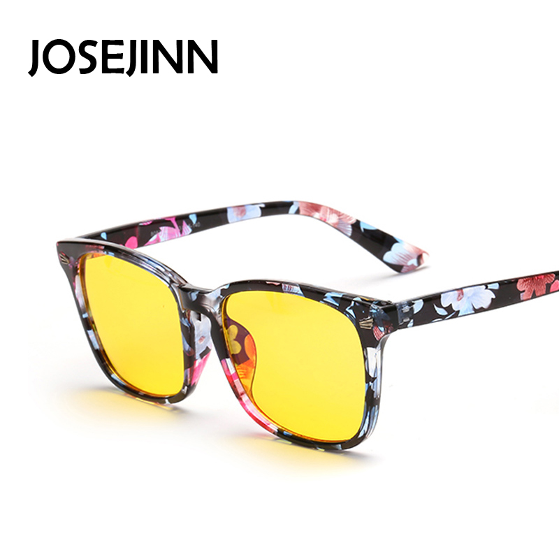 anti radiation glasses square yellow lens computer sunglasses protect eyes use for play network online game and office working