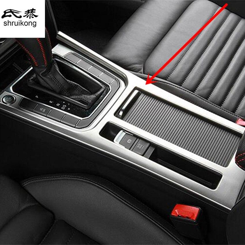 1 pc voiture autocollant en acier inoxydable panneau d'engrenage décoratif couverture paillettes pour 2016 2017 VW Volkswagen Passat B8 B 8 Variant LHD
