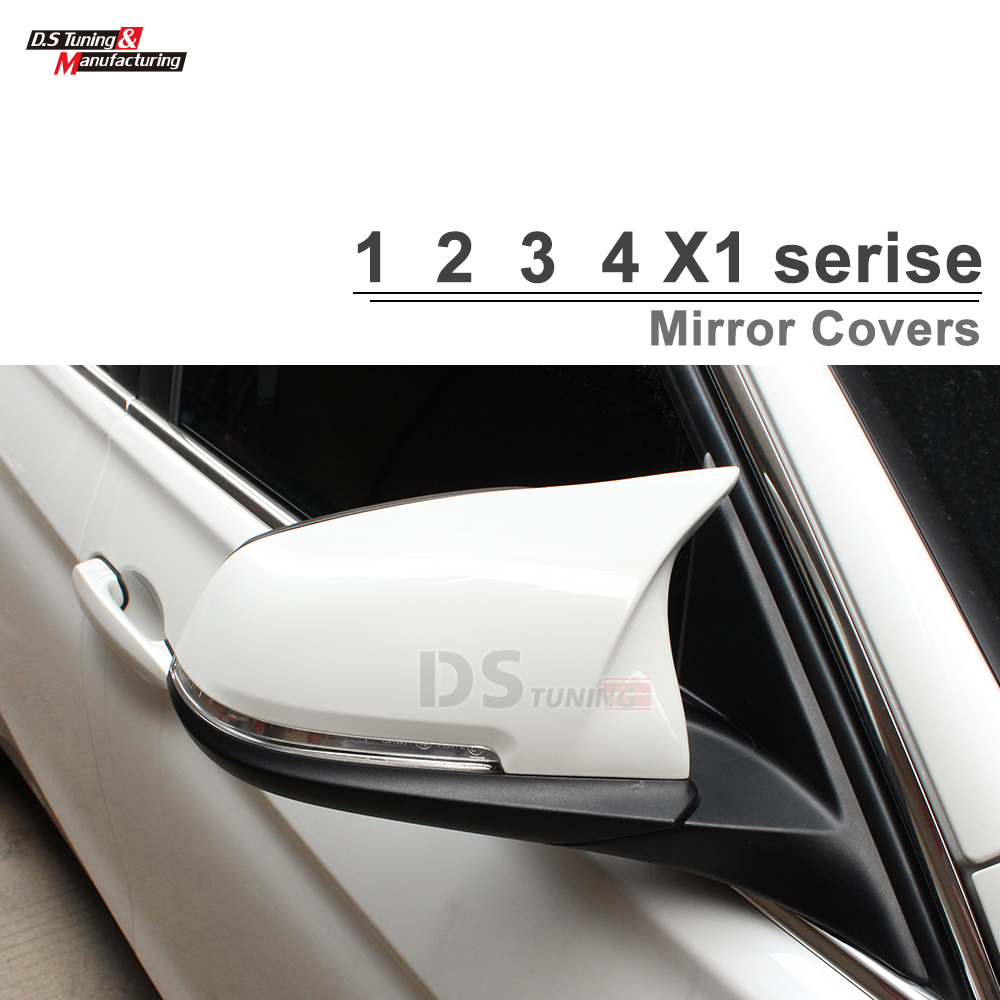 F30 M3 Look ABS / Carbon Fiber Replacement Mirror Cover For BMW F20 F22 F30 F31 F35 GT F34 F32 F33 F46 X1 E84 2010 - IN replacement car styling carbon fiber abs rear side door mirror cover for bmw 5 series f10 gt f07 lci 2014 523i 528i 535i