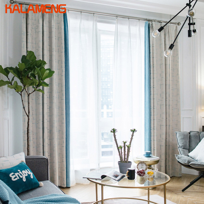 Modern Top Quality Gray Curtains Blackout Plain Curtains Ruffle Window Curtains Dining Room Full Shade Cloth  AXY8160(China)