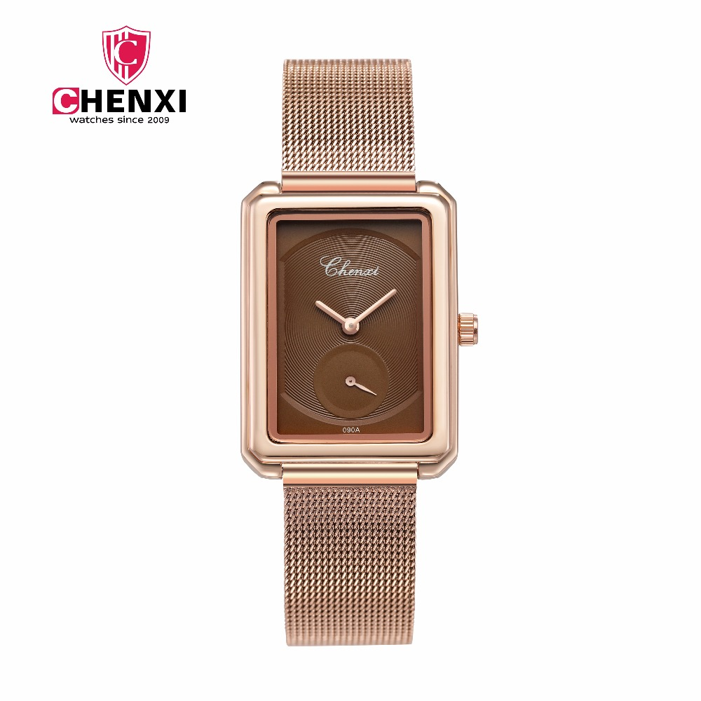 Quarzuhr Frauen Wasserdicht CHENXI Neue Frau Uhren Leder Rose Gold Armband Uhr Quarz Armbanduhren Damen Uhr Casual