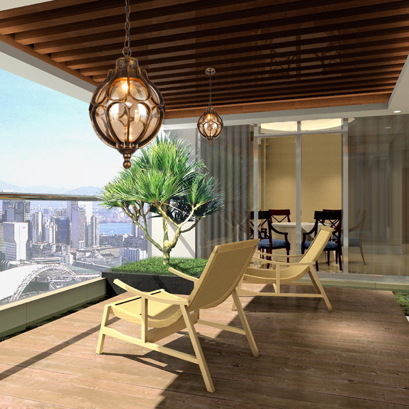 A1personalized Vintage Pendant Lamps Simple Outdoor Balcony Corridor Courtyard Villa Pavilion Grape Waterproof Pendant Lights