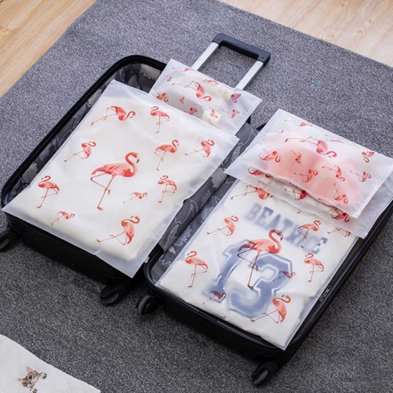 Transparent Cosmetic Bag Flamingo Travel Makeup Case Women Zipper Make Up Bath Organizer Storage Pouch Toiletry Wash Beauty Box