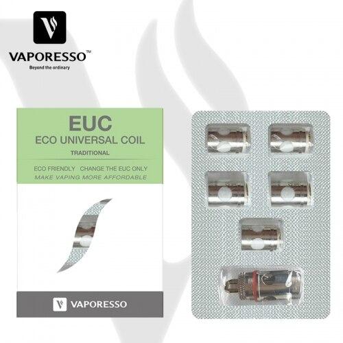 Vaporesso Traditional EUC Clapton Coil Head 0.4ohm 0.5ohm Add Sleeve For Estoc Tank Mega/Veco Plus/Gemini Tank 5pcs/pack