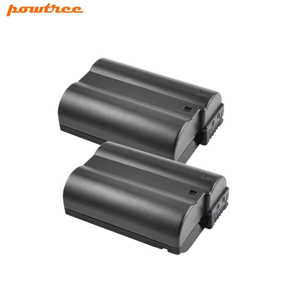 2X EN-EL15 ENEL15 EN EL15 Camera Battery for Nikon D500,D600,D610,D750,D7000,D7100,D7200,D800,D850,D810,D810A&1 V1 Rate L10 dc coupler ep 5b ep5b fake battery en el15 for nikon 1 v1 d7200 d7100 d7000 d810 d810a d800 d800e d750 d610 d600 d850 cameras