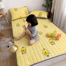 1 Pc Mattress Pad Yellow Color Duck Printed Cartoon Style Bed Pad Singel Queen King Size