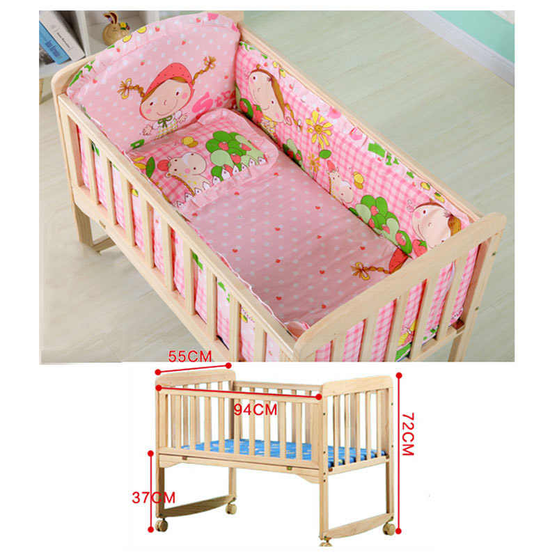Baby Wooden Crib With Mosquito Net Baby Rocking Crib With Roller