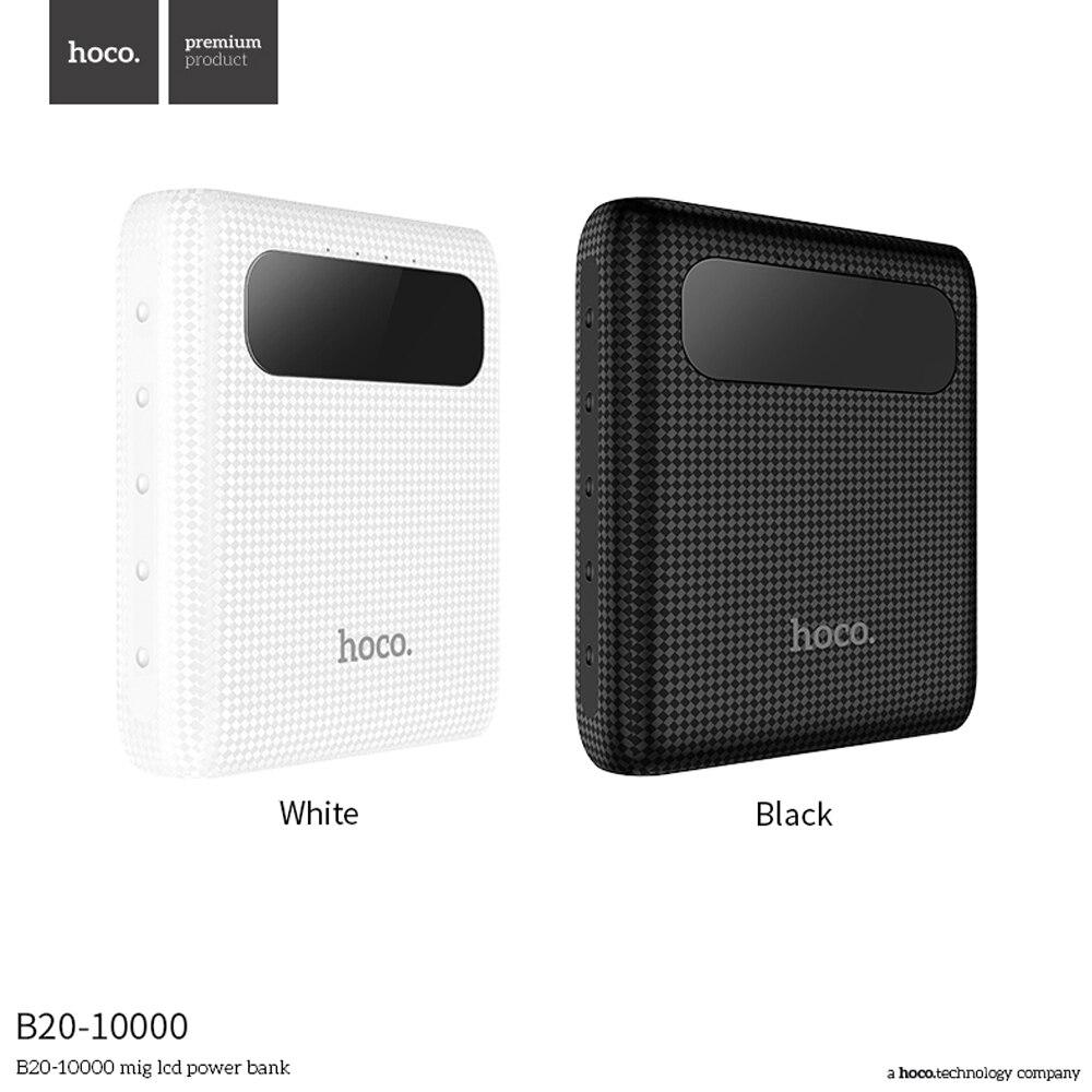 imágenes para HOCO B20 10000 mAh Cargador de Batería Externa del Banco de Potencia Dual USB Pantalla LED Baterias Externas para Xiaomi Rojo 4
