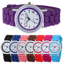 Fashion Geneva Women Children Kids Analog Quartz Jelly Silicone Wrist Watch Gift