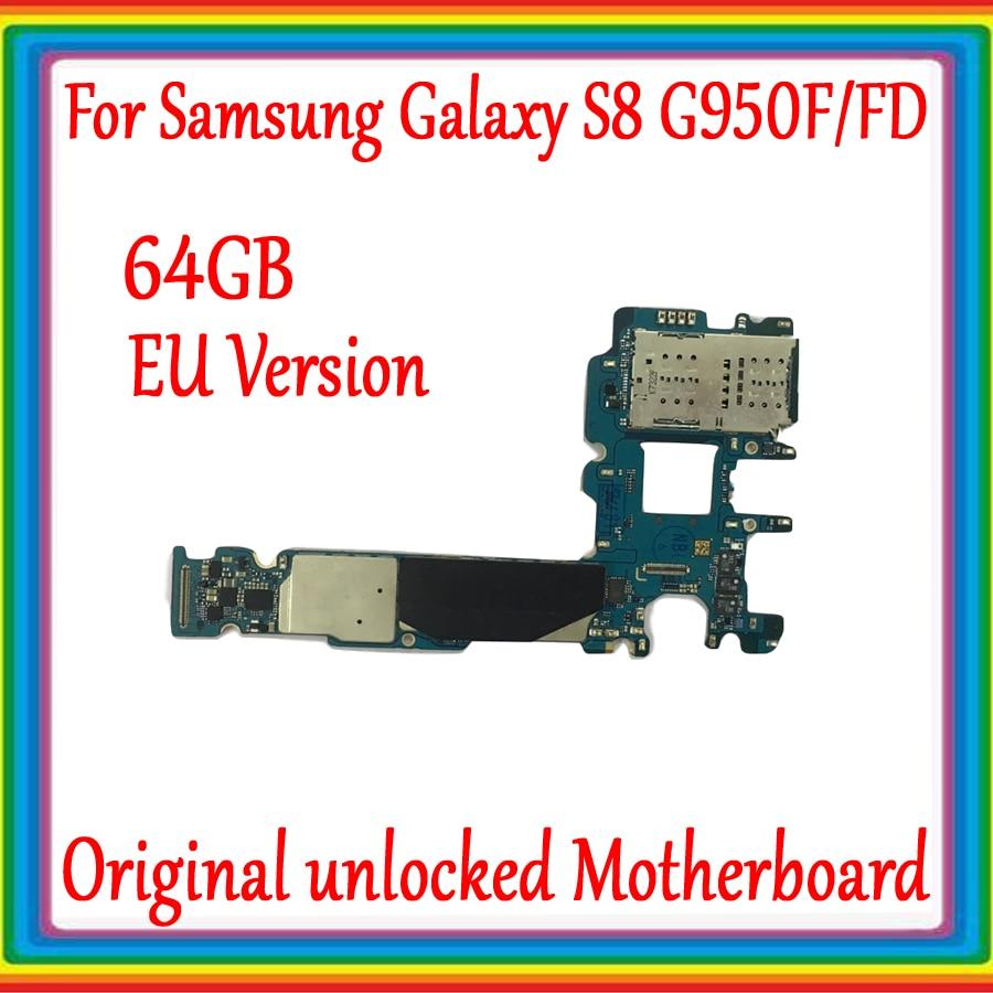 64GB pour Samsung Galaxy S8 G950F G950FD carte mère déverrouillée d'origine avec système Android pour Galaxy S8 G950F G950FD carte mère