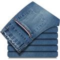 2016 nuevo de alta calidad de La Cintura Elástico casual skinny jeans hombres, 100% algodón Pantalones lápiz pantalones de talla grande 28-36