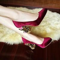 Женщины клетка туфли на каблуках женщина великолепные цветы украшенные бархат свадебные туфли женщина романтический дизайн вырезами толс