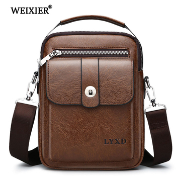 WEIXIER New PU Leather Messenger Fashion Casual Bag Arrival Vintage Designer Crossbody Travel High Quality