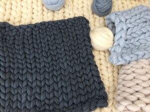 Image 5 - Fil à tricoter, bras Super épais, couverture, fil volumineux, Imitation laine mérinos, 1000g par balle, cadeau de noël