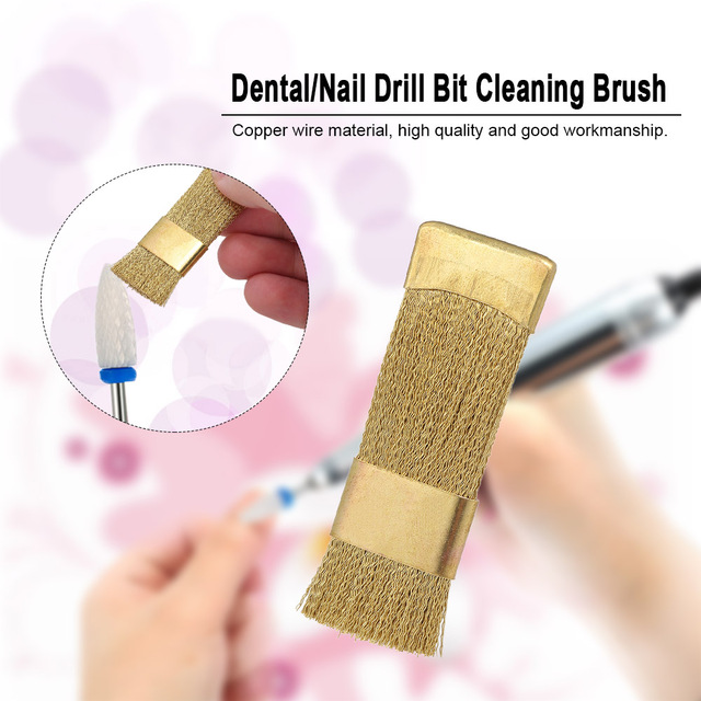 1pc dental drill bit cleaning brush portable electric manicure