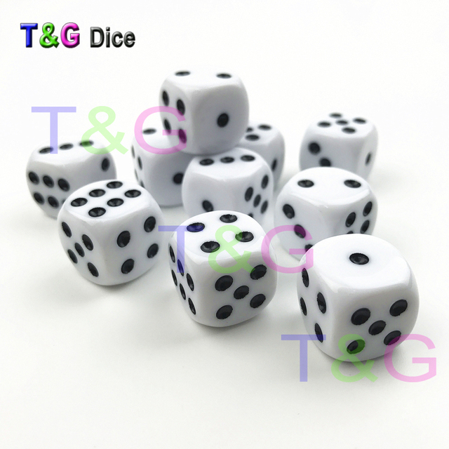 10pcs Set 16mm D6 Rounded Corner Standard Dot Color 6 Sided Dice Clear Game  Cube for Playing Games Entertainment As Gift 1fa3d5fac7a7