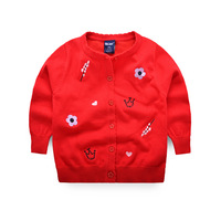Kids Cardigan Sweaters Cotton Baby Girl Sweaters Long Sleeve Embroidery Flower Sweater For Girls Spring Autumn Children Clothing