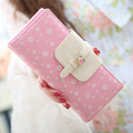 New Fashion Floral Women Wallet Multicolor Lady Wallets Fresh Sweet Girl Change Purse Delicate Cute Cash Purse Wintersweet Pouch