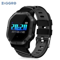 Diggro K5 Smart Watch Heart Rate Blood Pressure Blood Oxygen Monitoring IP68 Waterproof Bluetooth Smartwatch for Phone PK K2