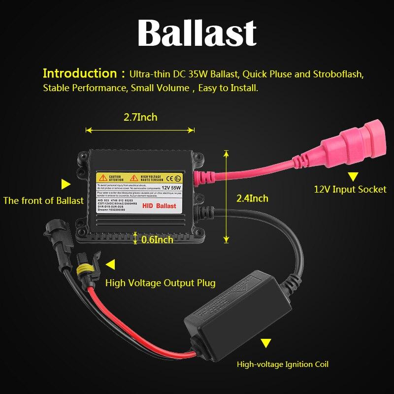 aliexpress com : buy h1 xenon hid conversion kit 35w 55w slim