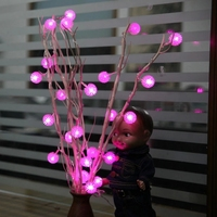 Dried Flowers Tree LED Light Natural Branches 25 Edelweiss Snowflake Strawberry Tree Room Ornament Christmas Party