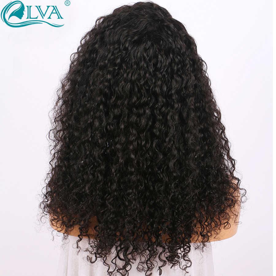 Волосы ELVA 360 парик al для черных женщин бразильские кудрявые волосы фронта человеческих волос парики предварительно сорвал с волосами младенца remy