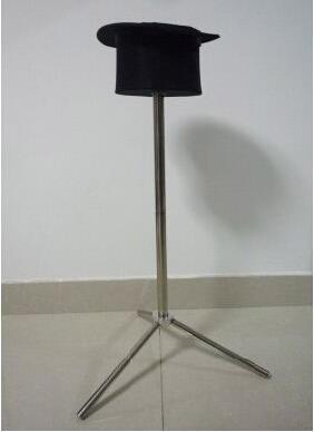 Sombrero de copa plegable con soporte para mesa lateral con trucos de Magia para escenario
