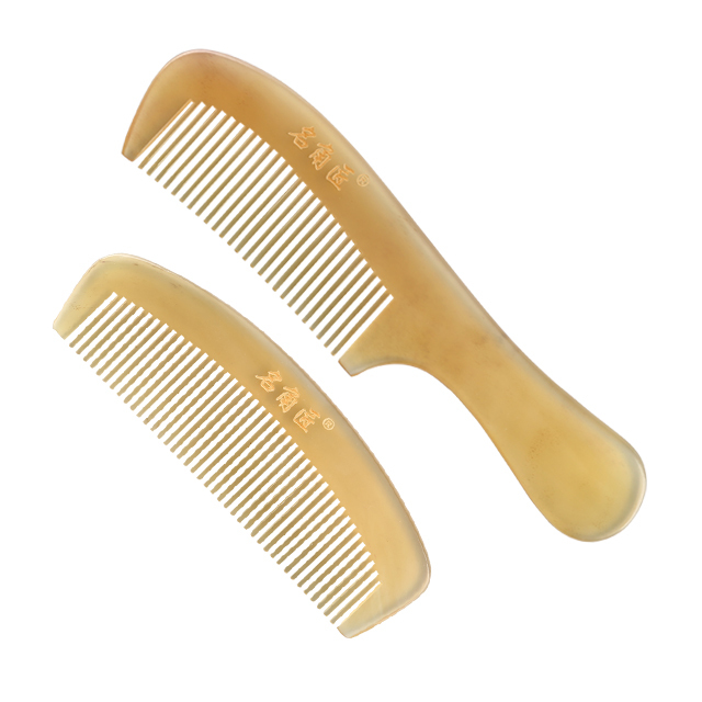 Genuine horn Antistatic anti-hair loss massage long hair comb antistatic hair straightening detangled massage comb
