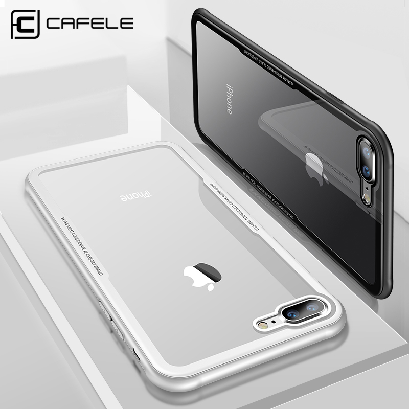 CAFELE Back Tempered Glass Case For iPhone 8 7 plus Full coverage HD Clear Full Body Cover Tempered Glass cases For iPhone 8 7