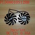 Envío gratis 2 unids/lote PLD08010S12HH 75mm 12 V para MSI R6790 R6850 R6890 GTX560 GTX570 GTX580 GTX460