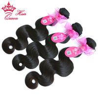 Queen Hair Products Brazilian Human Hair 3pcs Lot Bundles Deal Body Wave Hair Weave Remy Human