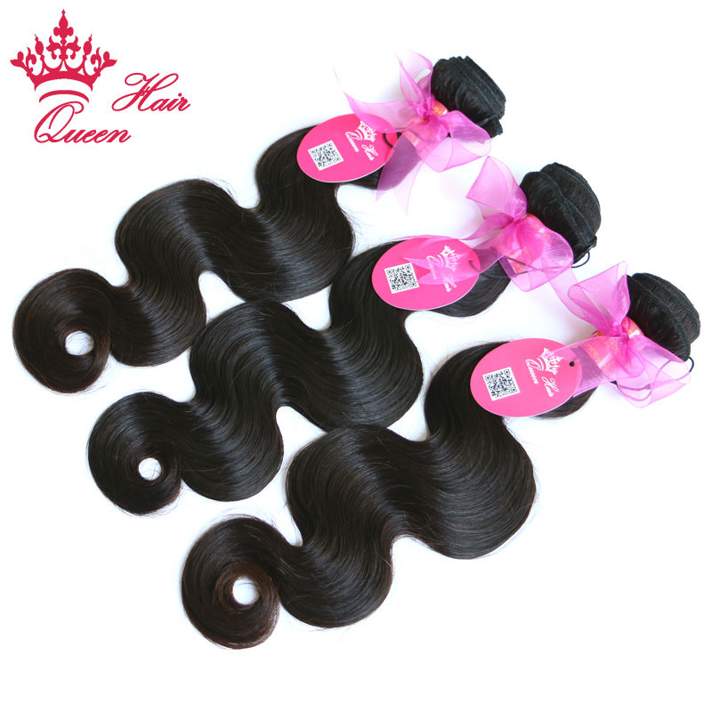 Productos para el cabello Reina brasileña del pelo humano 3pcs / lot - Cabello humano (negro)