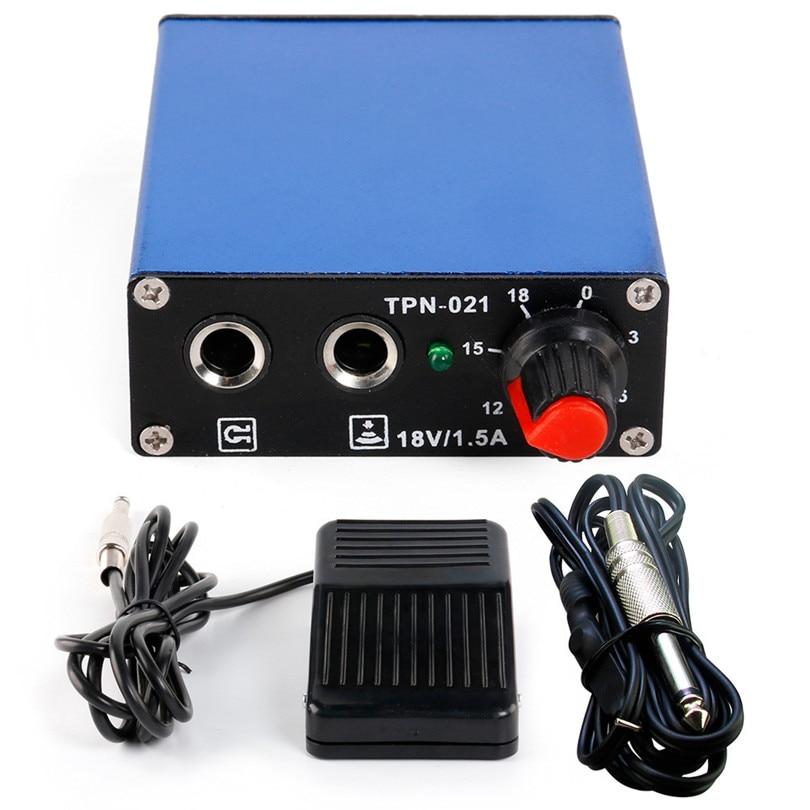 Tatoo Kits Supply 1Pcs Pro New Mini Tattoo Machine Power Supply + 1Pcs Footpedal + 1Pcs Clipcord