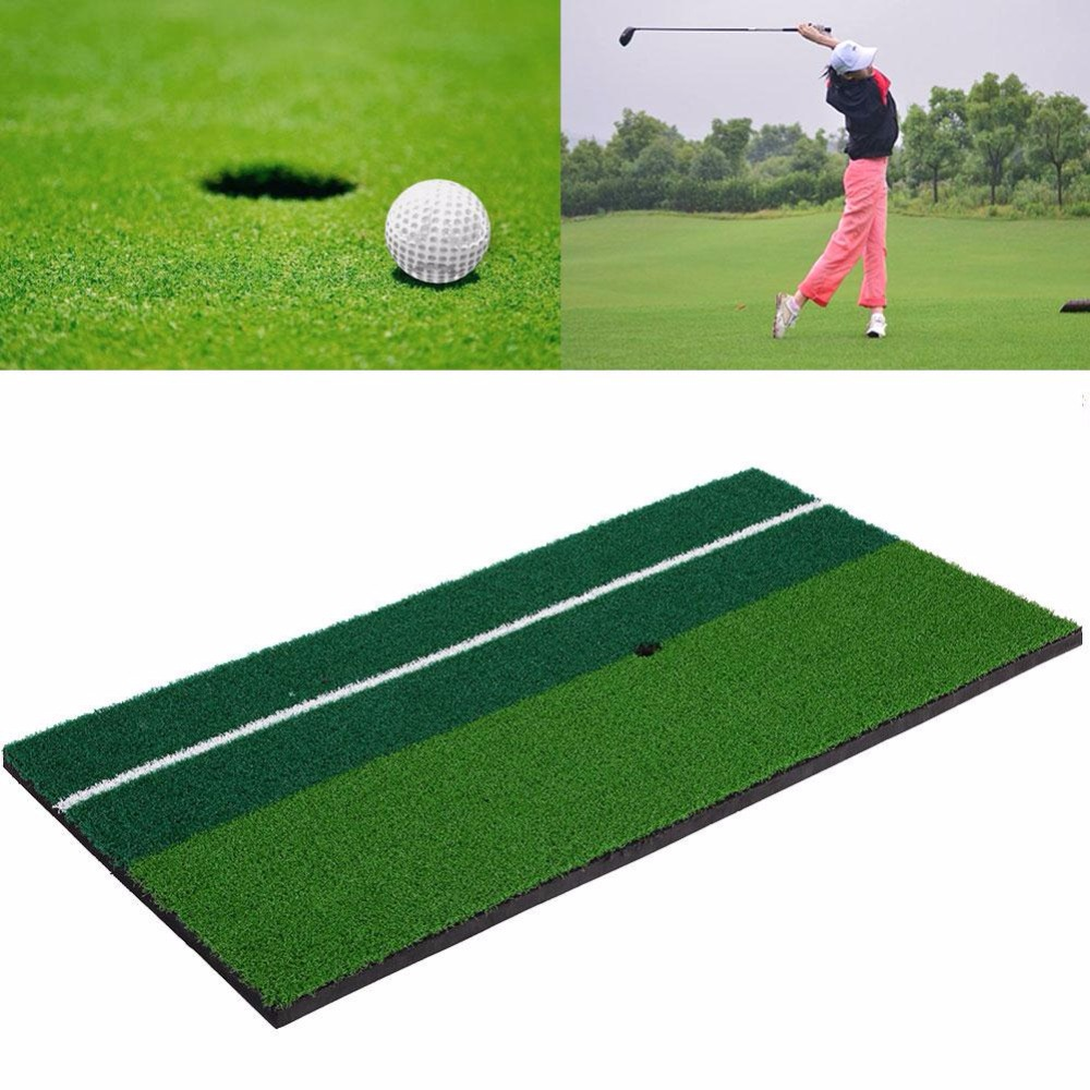 Manufacturer PGM Indoor Backyard Golf Mat Training Hitting Pad Practice Rubber Tee Holder Grass Mat Grassroots Green 60cm x 30cm