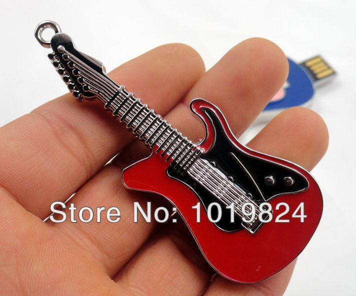 100% real capacity Jewelry Crystal Small Guitar Shape USB Flash Drive Jewelry Crystal 2G 4G 8G 16G Wholesale S253
