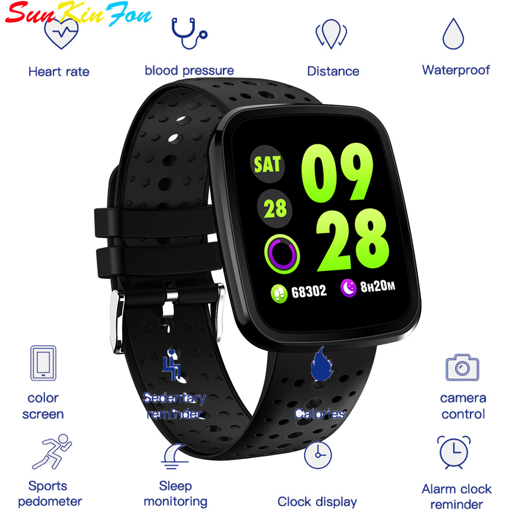 Smart Wristband W8 Fitness Tracker Heart Rate Blood Pressure Monitor Bracelet Smart Band for Samsung Galaxy Note 8 5 4 3 2 Edge