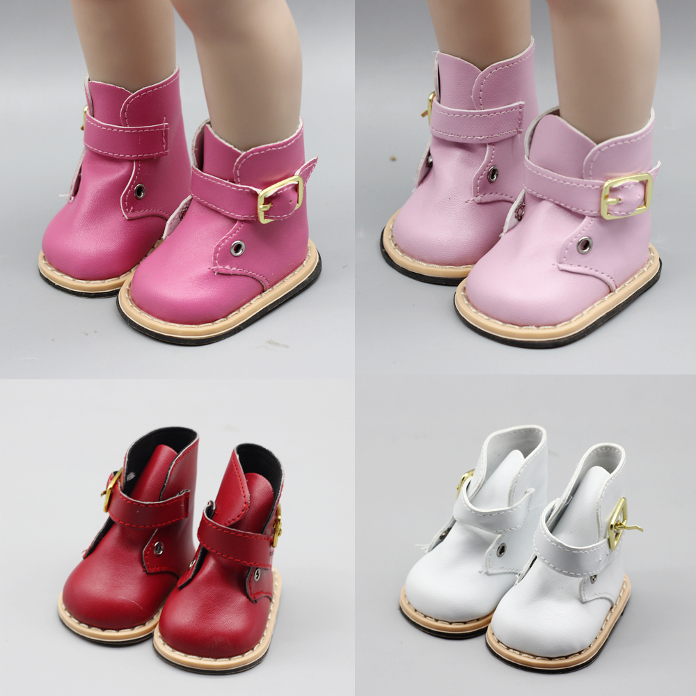 Mini Doll Shoes Pu Leather Winter Boots Fit 43 Cm Baby Dolls And 18 Inch Girl Doll Christmas Present Toy