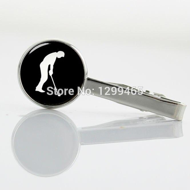 Novelty Interesting sports Golfer Tie Clips Formal Wear Men Necktie Tie Clip Elegant Design golf ball silhouette Tie Pins T 687