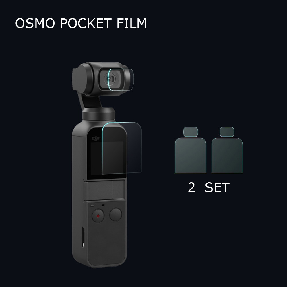 2 Pack OSMO Pocket Screen Protection Film+Lens Protection Film for DJI OSMO Pocket Protector Accessories2 Pack OSMO Pocket Screen Protection Film+Lens Protection Film for DJI OSMO Pocket Protector Accessories