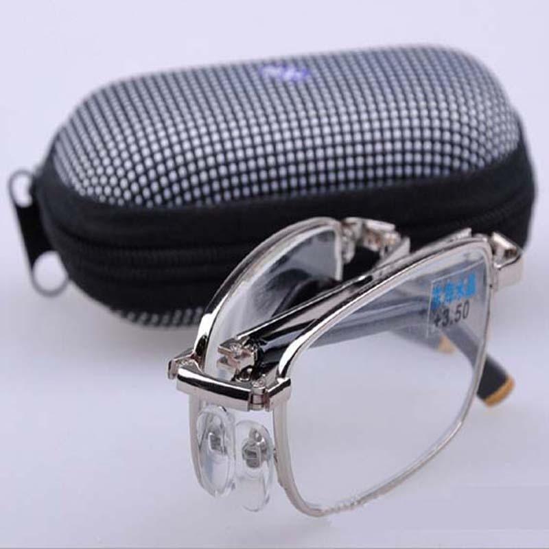 fbb930c981 Plegable de metal artificial cristal espejo de alta definición gafas de  lectura + 1.0 + 1.5 + 2.0 + 2.5 + 3.0 + 3.5 + 4.0