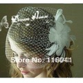 Fashion Bridal Accessory Feather Flower Wedding Bridal Birdcage Veil